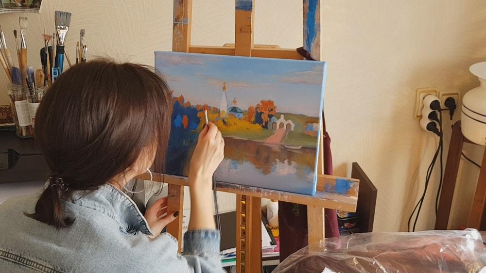 Angļu valodas skolotāja atklāj sevī gleznošanas talantu