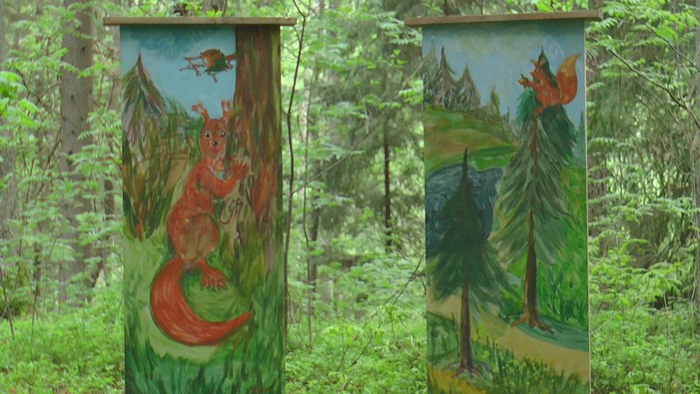 """Baldones vērtības """"Meža galerijā"""""""