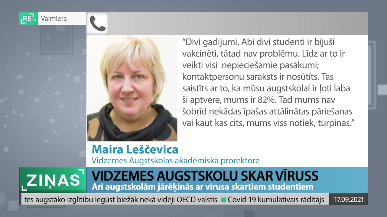 ReTV Ziņas 19.00(17.09.2021.)