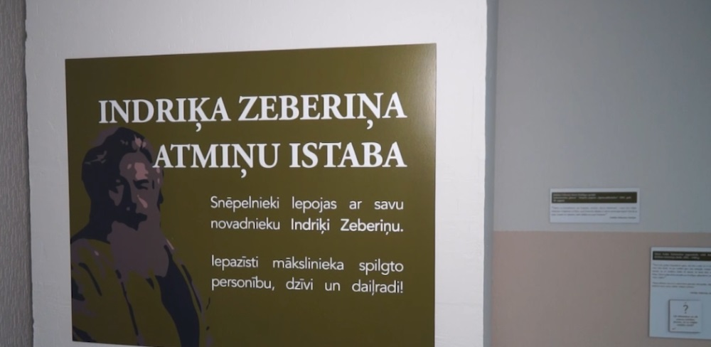 Snēpelē atjaunota Indriķa Zeberiņa atmiņu istaba